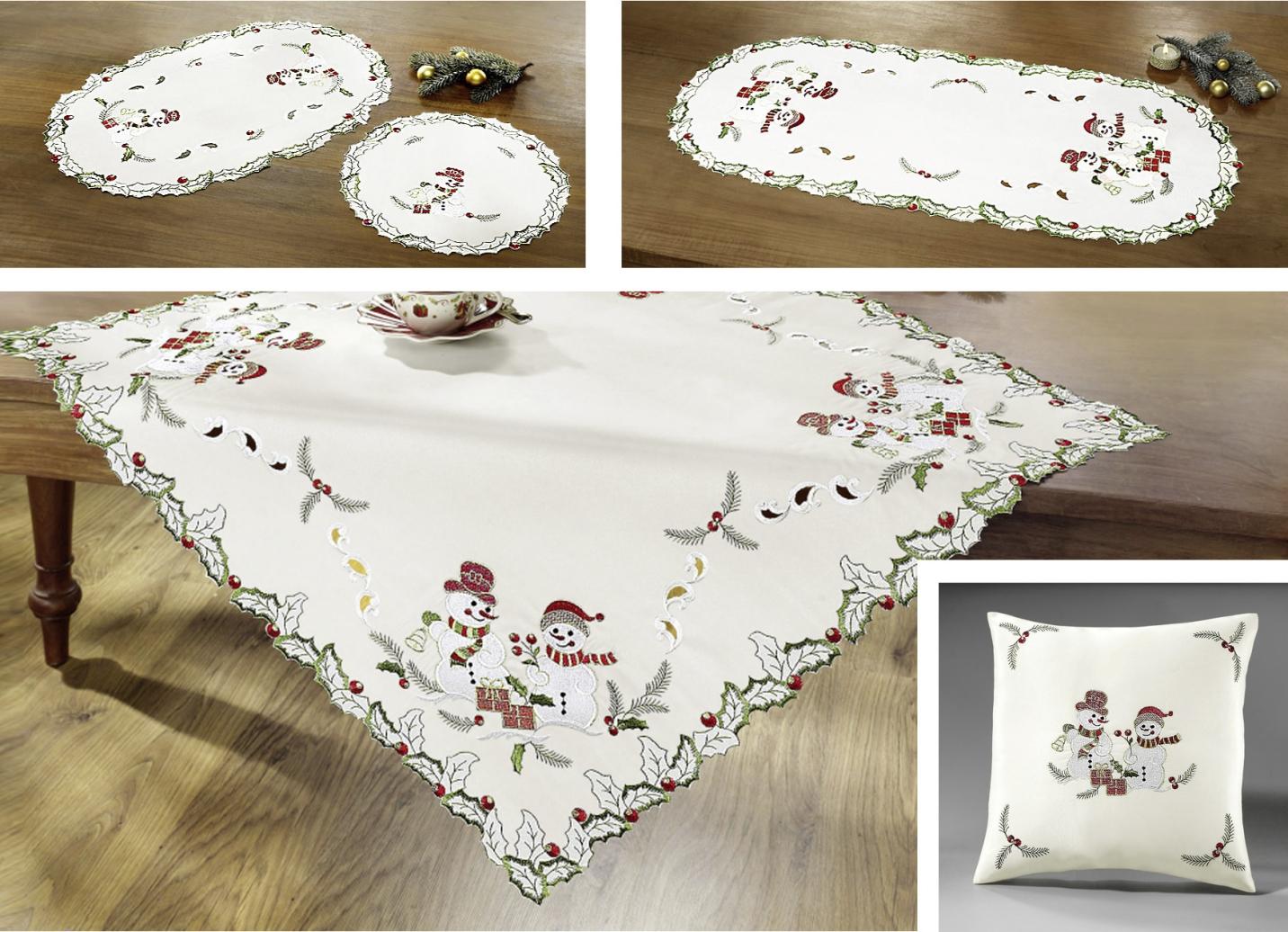 Tisch und raumdekoration mit schneemann motiven for Dekoration schneemann