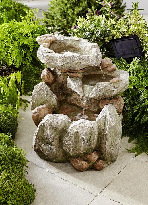Solar Brunnen Felsen Gartendekoration Bader