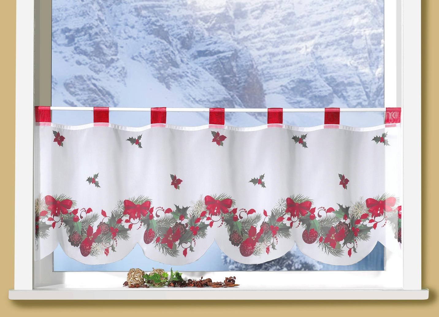 Kurzstore Weihnachten Gardinen Bader