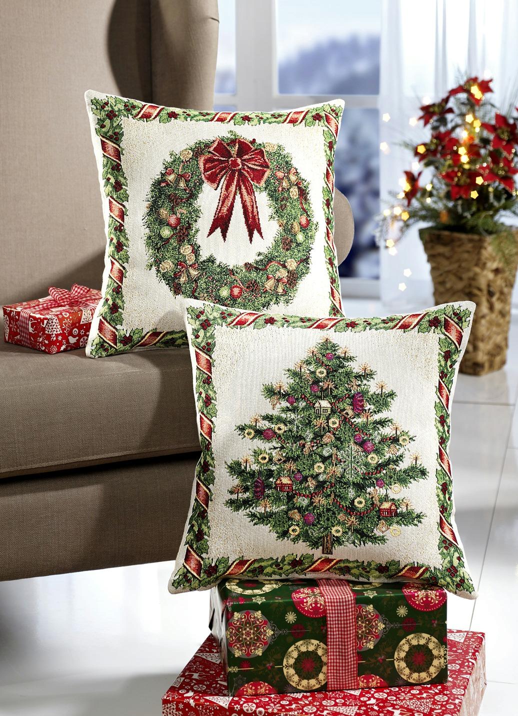 kissenh llen 2er set tannenbaum kissenh llen bader. Black Bedroom Furniture Sets. Home Design Ideas