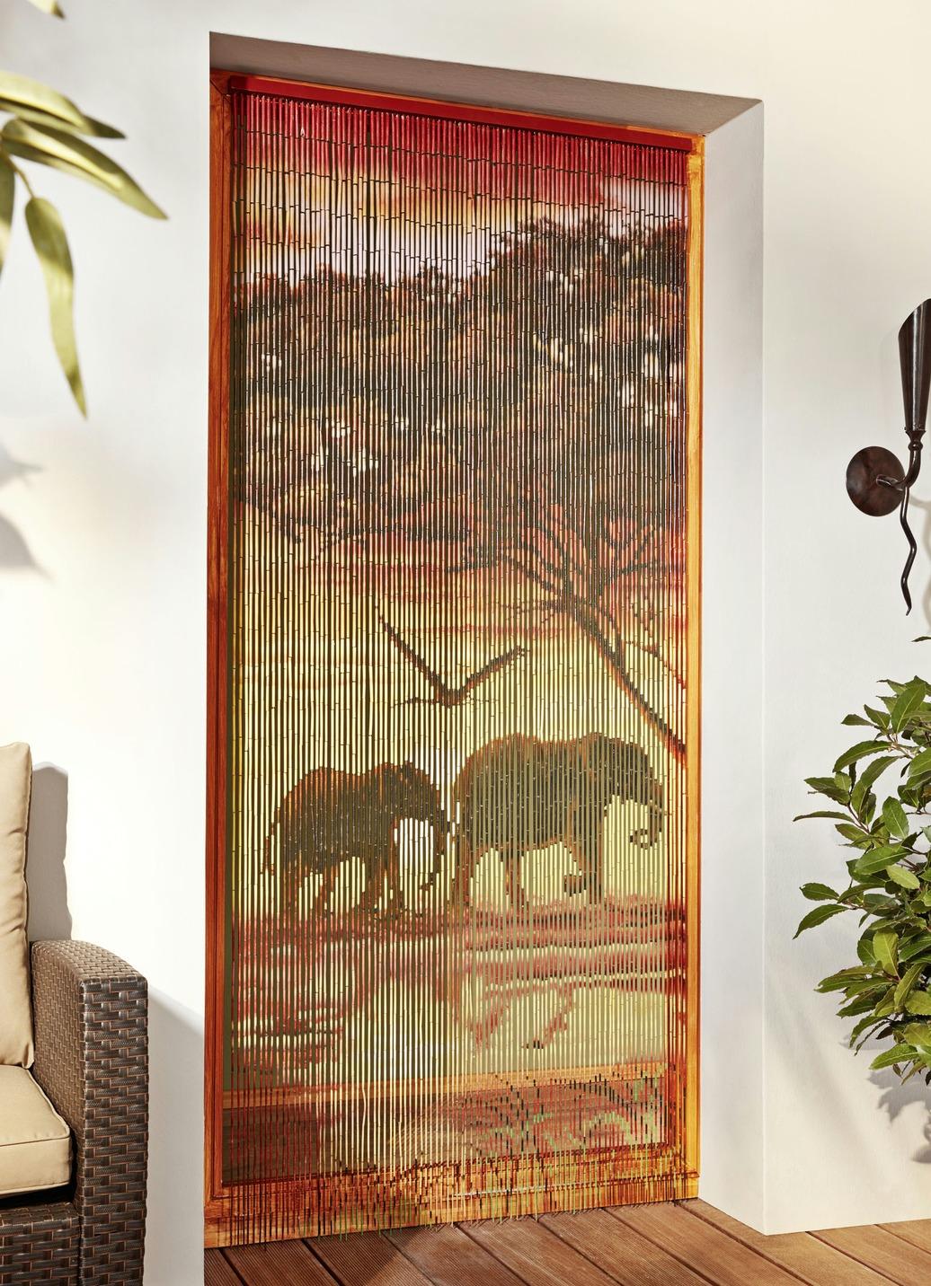 bambus vorhang elefanten sichtschutz und sonnenschutz bader. Black Bedroom Furniture Sets. Home Design Ideas