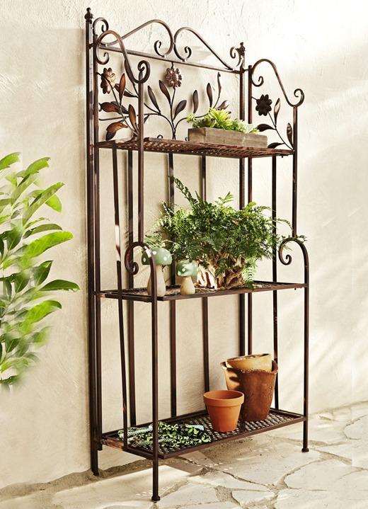 Eisen-Regale in verschiedenen Ausführungen - Gartenmöbel   BADER