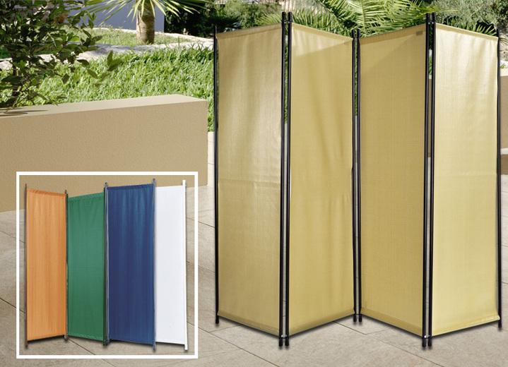 paravent 4 teilig in verschiedenen farben sichtschutz und sonnenschutz bader. Black Bedroom Furniture Sets. Home Design Ideas