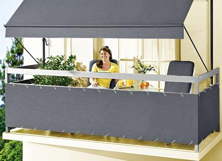 balkon seitensichtschutz style in verschiedenen farben sichtschutz und sonnenschutz bader. Black Bedroom Furniture Sets. Home Design Ideas