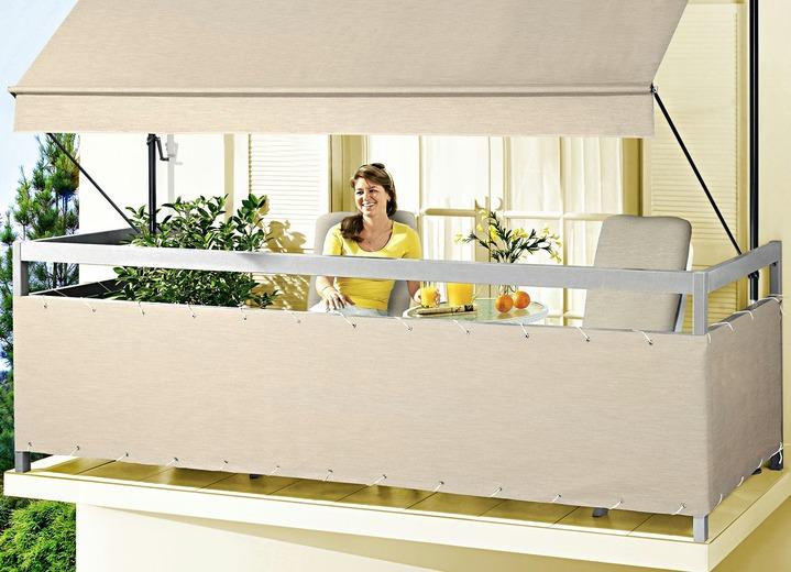 balkonbespannung style in verschiedenen farben. Black Bedroom Furniture Sets. Home Design Ideas