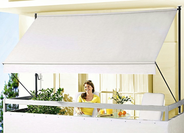 klemmmarkise style in verschiedenen farben sichtschutz und sonnenschutz bader. Black Bedroom Furniture Sets. Home Design Ideas