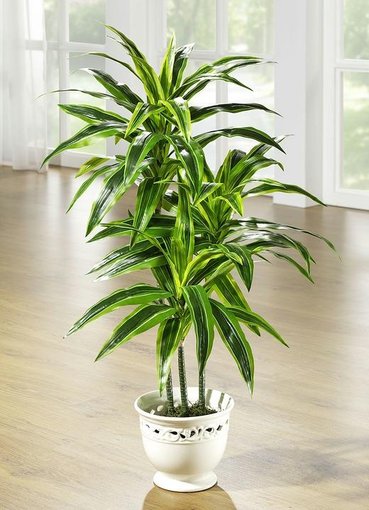 dracena palme im topf kunst textilpflanzen bader