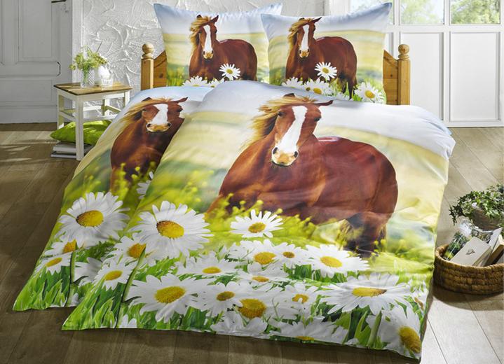 Bettwäsche Garnitur Pferd Bettwäsche Bader