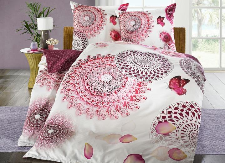 Bettwäsche Mit Vogel Mandala Und Blüten Motiven Bettwäsche Bader