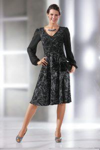 116472845b089c Kleid in Wickel-Optik -elegante Mode für Hochzeitsgäste