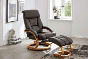 Komfortabler, bis zur Liegeposition verstellbarer Relax-Sessel mit Hocker - Auf dem Weg zu mehr Lebensfreude