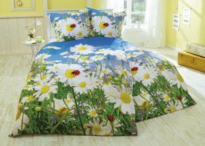 Wunderschöne Bettwäsche bringt mit ihrer herrlichen Margeritenwiese und den Marienkäfern - Auf dem Weg zu mehr Lebensfreude