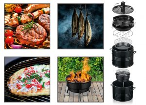 BBQ-Grilltonne 5-in-1 - WM-Party-Ideen