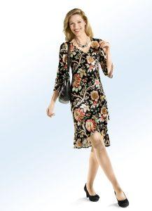 Kleid mit farbbrillantem Inkjet-Druck - Modetrends Frühjahr/Sommer 2018