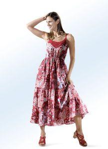 zum Kleid mit Häkelborte