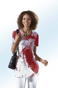 368b1007621a5b Shirt mit schönem Allover-Dessin - Mode für Frauen ab 50