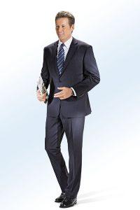 Krawatte aus reiner Seide in Marine-Dunkelblau-Schwarz-Hellblau-Weiss - Natürliche Materialien Kleidung
