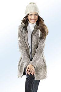 Ein absolutes Highlight ist diese faszinierende, braun melierte Funktionsjacke - Modetrends Herbst Winter 2017/18