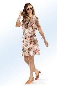 Kleid mit Stufenvolants - Modetrends Frühjahr/Sommer 2018
