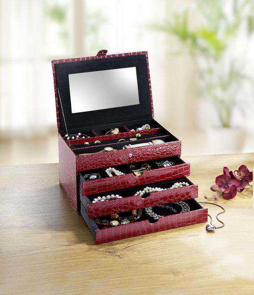 Schmuckkoffer in verschiedenen Farben - Valentinstag Geschenk-Ideen