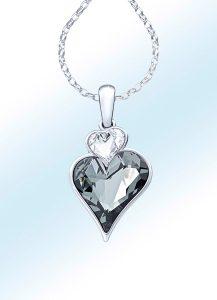 Herz-Anhänger mit Ankerkette - Valentinstag Geschenk-Ideen