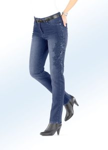Edel-Jeans mit wunderschöner Blumenstickerei - Modetrends Frühjahr/Sommer 2018