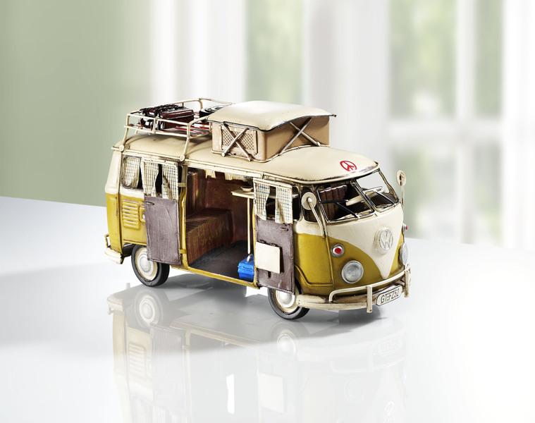 VW Bus Camper von Hand bemalt - Modellautos sammeln