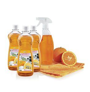 Universal-Orangenreiniger-Set, 5-teilig - Putzen ohne Chemie