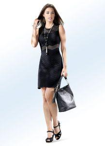 Strick-Kleid mit transparenten Effekten - Modetrends Frühjahr 2019