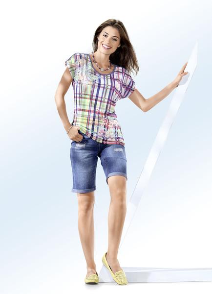 Jeans-Bermudas mit tollen Used-Effekten- Modetrends Frühjahr 2019