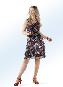 Kleid mit Floral- und Tupfendessin - Modetrends Frühjahr 2019