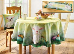 Schäfer Tisch- und Raumdekoration mit Osterlämmchen- Geschmackvolle Osterdeko