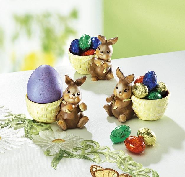 Eierbecher mit Hasen, 3er-Set - Rezepte zu Ostern