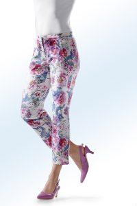 Floral dessinierte 7/8-Hose - Strandbekleidung