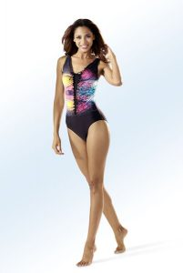 Badeanzug mit Halbkorsage - Strandbekleidung