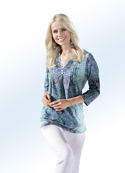 Fabelhafte Tunika mit schönem Bordüren-Druck - Strandbekleidung