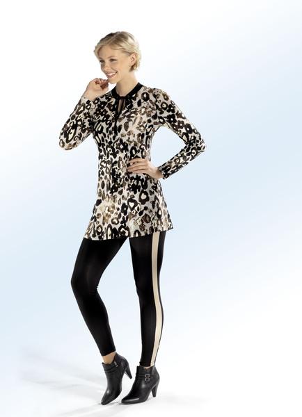 Longshirt mit V-Schlitz und Bindeband - Kleidung made in Germany