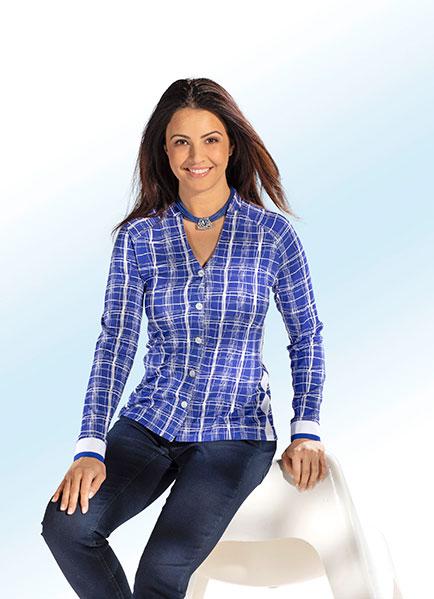 Shirtbluse aus elastischem Feinjersey - Kleidung made in Germany