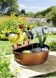 Brunnen in Handarbeit aus Metall gefertigt - Urlaub zuhause