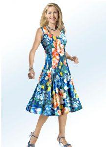 KLAUS MODELLE Kleid mit tollem Floral-Dessin - Mode für Mollige
