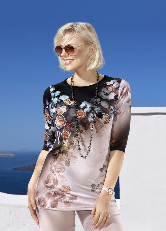Shirt mit farbbrillantem Inkjet-Druck - Mode für Mollige