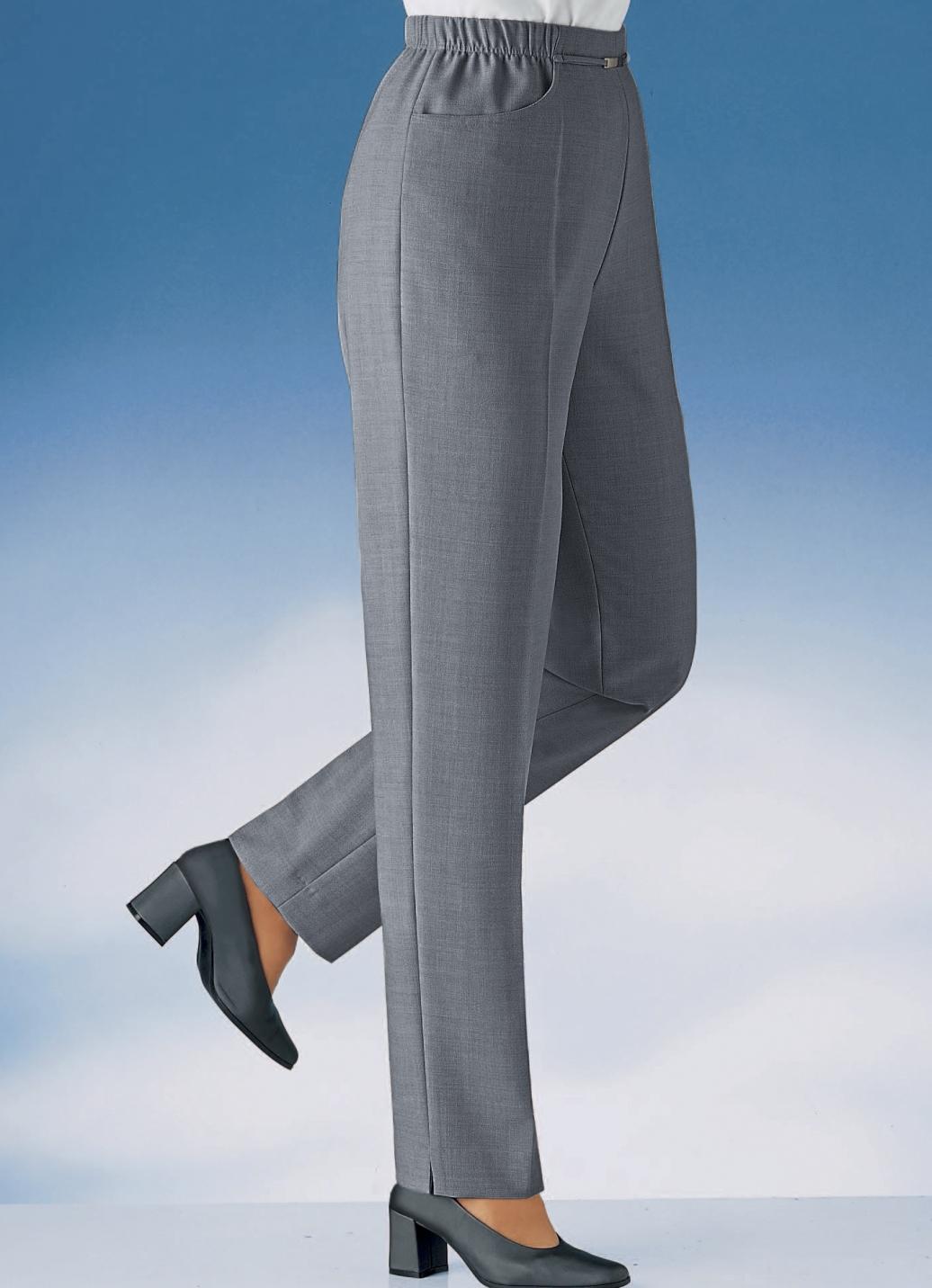 Hose in Schlupfform in 12 Farben Mittelgrau Mel. Größe 20 Damen Preisvergleich