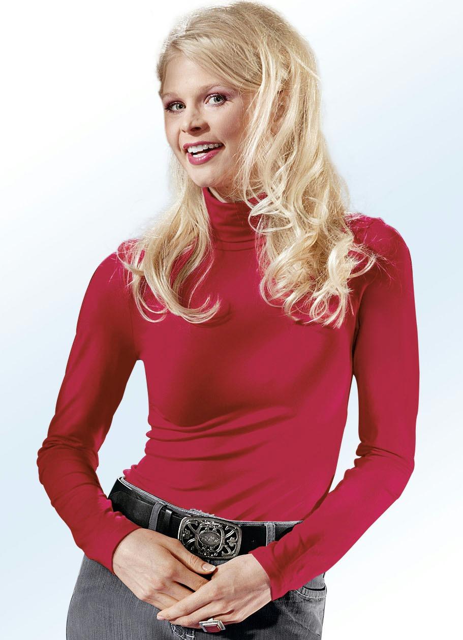Rolli in 16 Farben ein tolles Basic Größe XL(48/50) Rot Damen Preisvergleich