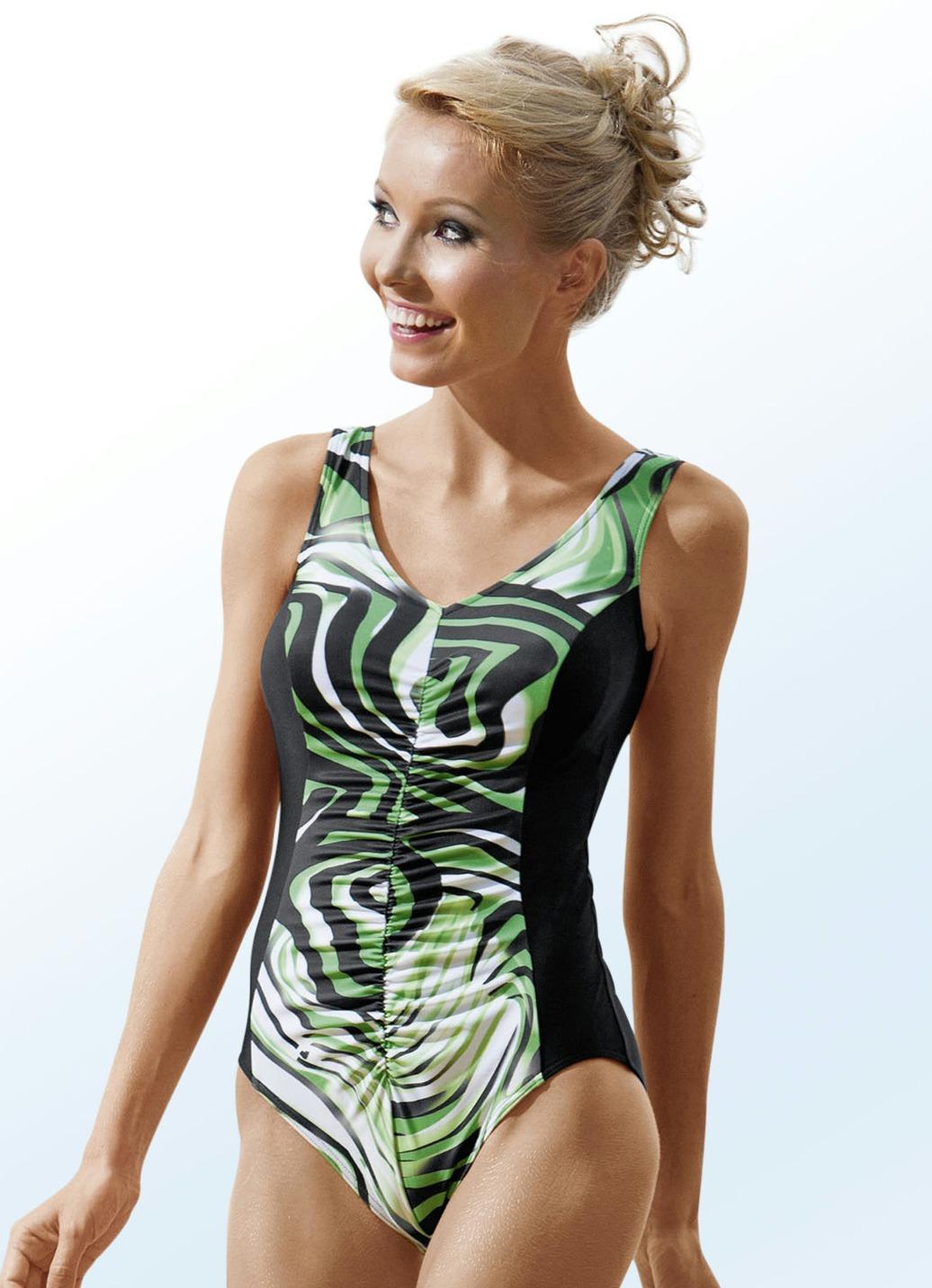 Badeanzug mit Vollkorsage Cup B Maigrün-Bunt Größe 44 Damen Preisvergleich