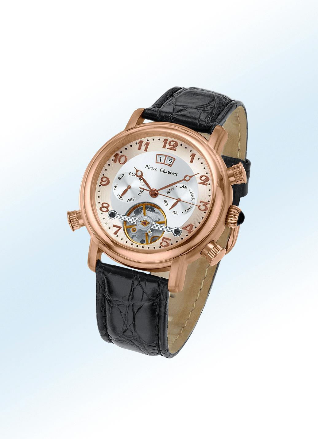 Pierre-Chaubert-Automatik-Herrenuhr Gehäuse Edelstahl Uhrenband Leder Herren Preisvergleich