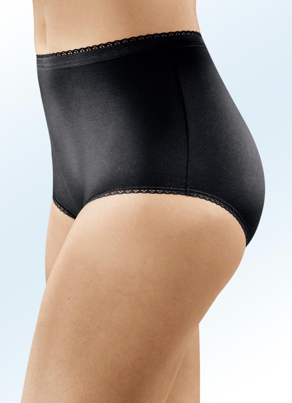 Viererpack Slips mit Spitzenbandabschlüssen Schwarz Größe 52 Damen Preisvergleich