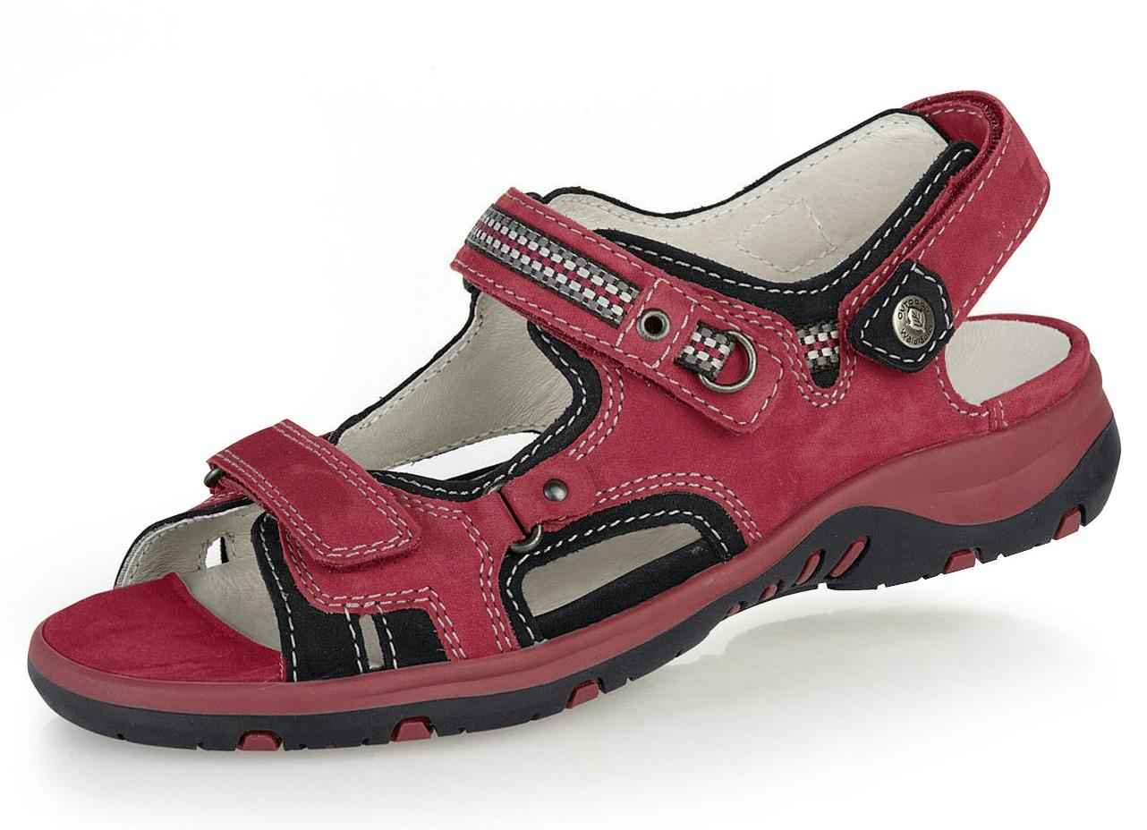 Sandalette  mit herausnehmbarem Lederfußbett Weite H Rot-Schwarz Schuhgröße 8 1/2 Damen Preisvergleich