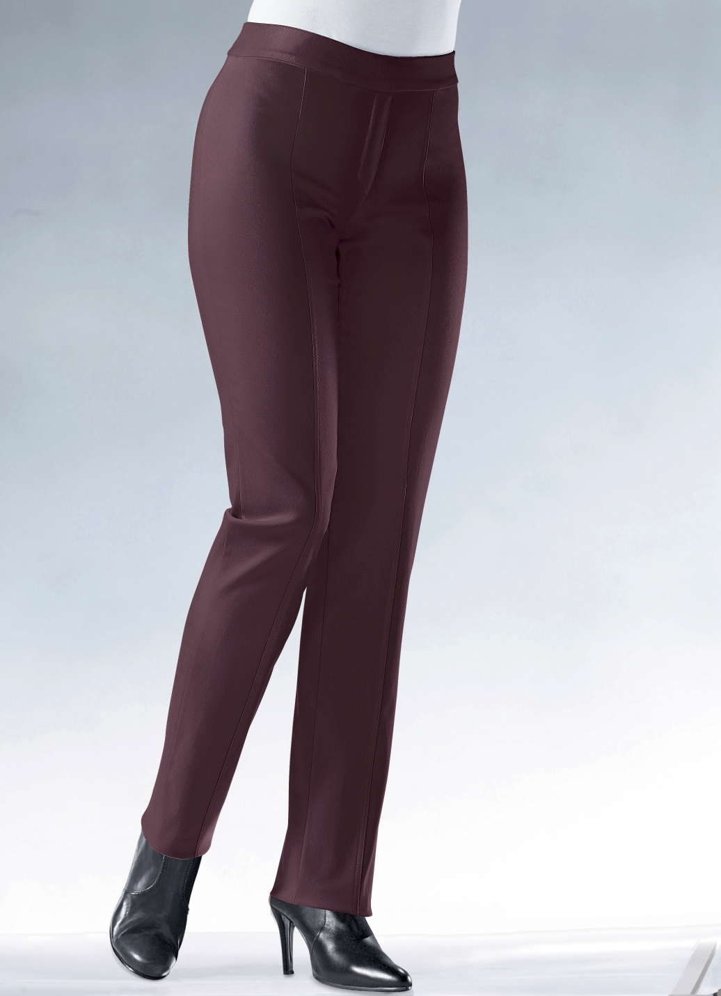 Soft-Stretch-Hose  Bordeaux Größe 18 Damen Preisvergleich