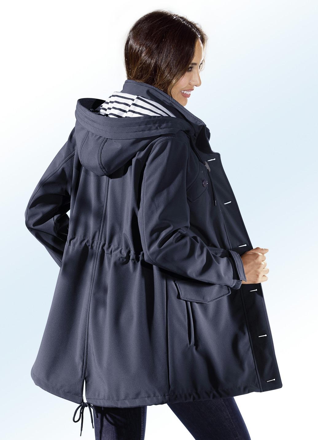 Funktions-Longjacke mit breitem Regenschild Marine Größe 50 Damen Preisvergleich