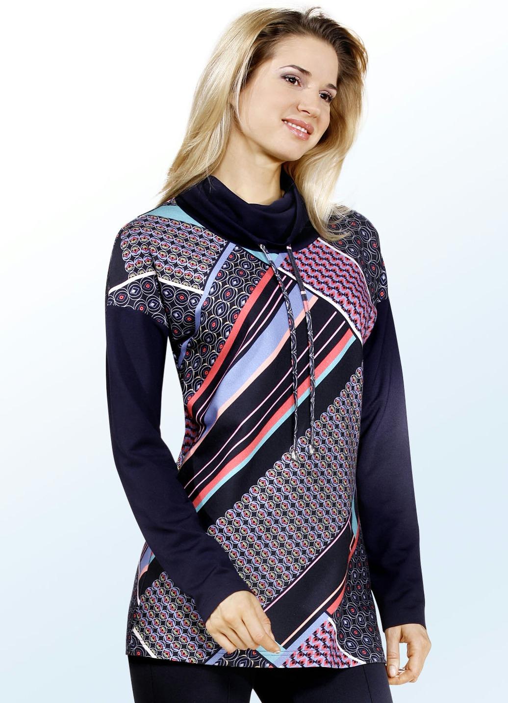 ELENA EDEN Shirt mit Inkjet-Druck Multicolor Größe 40 Damen Preisvergleich